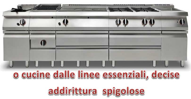 002-Cucine dalle Linee Essenziali, Decise e Spigolose